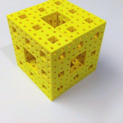 Télécharger fichier STL gratuit Art mathématique (art fractal) : Puzzle Eponge Menger, Kay