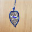 leafFront1.PNG Télécharger fichier STL gratuit Marque-page avec Triangulation Delaunay • Plan pour impression 3D, Kay
