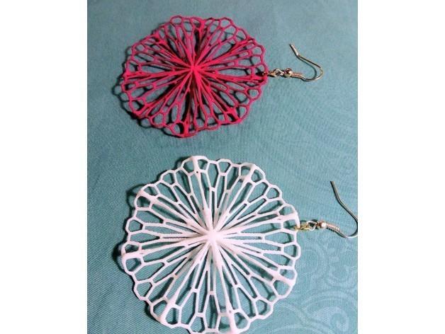 6087f241bbe9b384f8f200b6d72259e2_preview_featured.jpg Télécharger fichier STL gratuit Art mathématique : Cercle froissé (boucles d'oreilles) • Design pour imprimante 3D, Kay