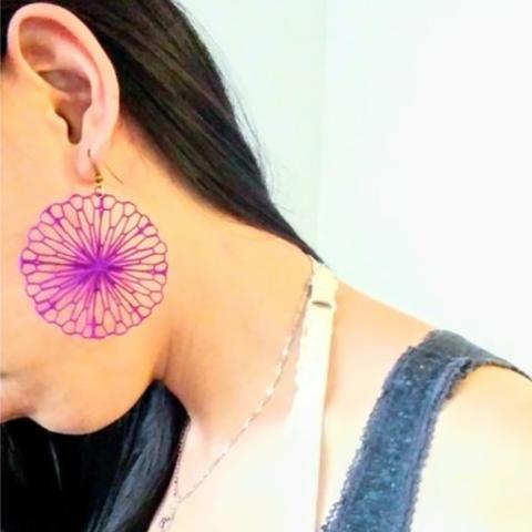 Download free STL file Mathematical Art: Crumpled Circle (Earrings), Kay