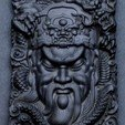 Diseños 3D gratis Guangong y dragón, pim_be