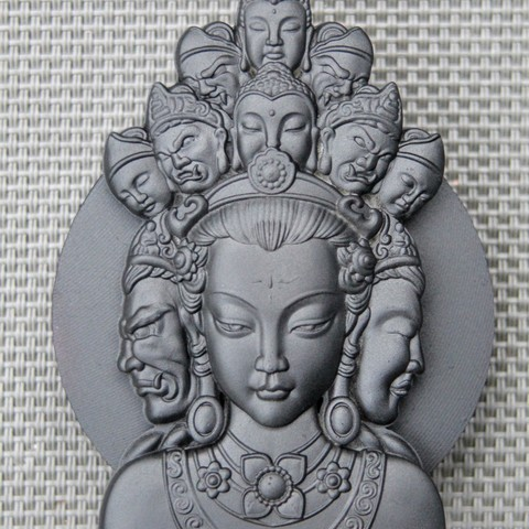 Free 3D printer model guanyin with thousands of heads, pim_be