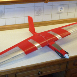 "Free Speedy ""Red Midi Swept Wing"" 3D printer file, wersy"