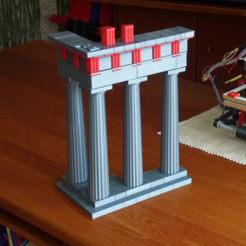 Free 3D printer designs Architecture of Parthenon, wersy
