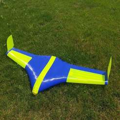Download free 3D printing templates Flying Wing Buratinu - large parts, wersy