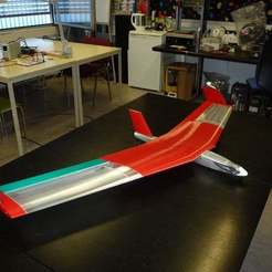 Download free 3D printing designs Slim fuselage for Red Swept Wing 2, wersy