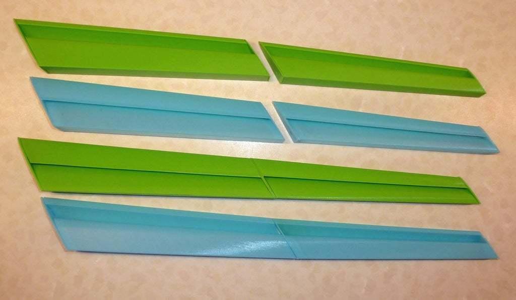 Vorfluegel_gesamt_2.jpg Download free STL file Leading-Edge Slats for Horten Wing Stiletto • 3D printer model, wersy
