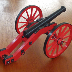 Download free STL Cannon from Castle of Buedingen, wersy