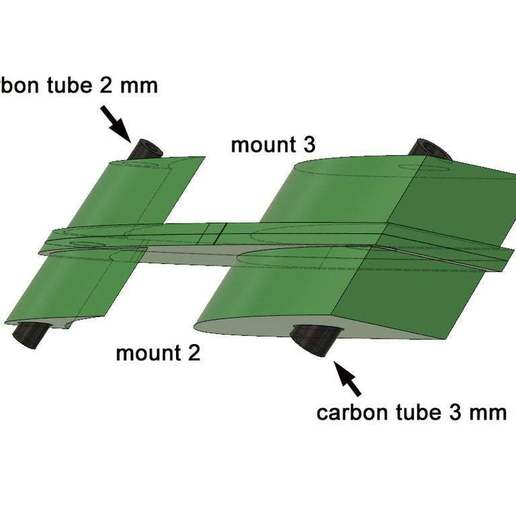 Mittellager.jpg Download free STL file Leading-Edge Slats for Horten Wing Stiletto • 3D printer model, wersy