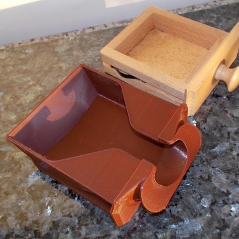 moulin 1.JPG Download free STL file Drawer for Peugeot coffee grinder • 3D print model, Yvius