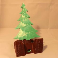 photo sapin 1.png Download STL file Fir phone holder • Design to 3D print, Yvius