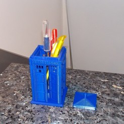ppcb 5.JPG Download free STL file Police Box pencil holder ( Tardis) • 3D print template, Yvius