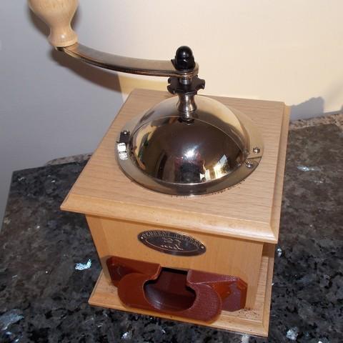 moulin 2.JPG Download free STL file Drawer for Peugeot coffee grinder • 3D print model, Yvius
