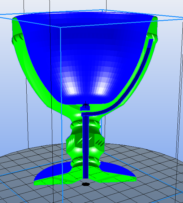 vue en coupe .PNG Download free STL file Small cup of Pythagoras • 3D print model, Yvius