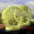 STL Globe-b 3D printed, djgeenen