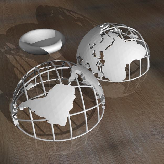 2.jpg Télécharger fichier STL Globe imprimé en 3D • Objet pour imprimante 3D, djgeenen