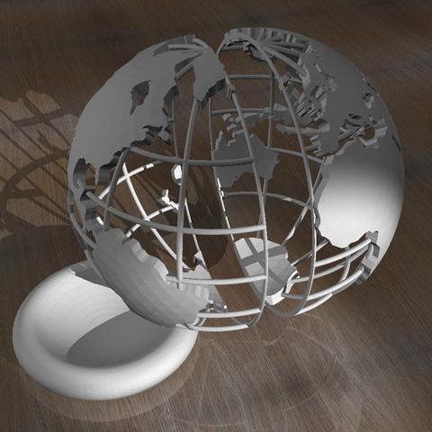3.jpg Télécharger fichier STL Globe imprimé en 3D • Objet pour imprimante 3D, djgeenen