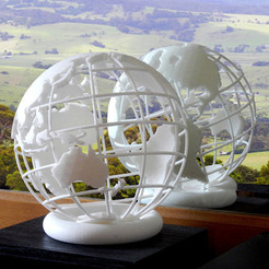 Download STL file Globe 3D printed • 3D print template, djgeenen
