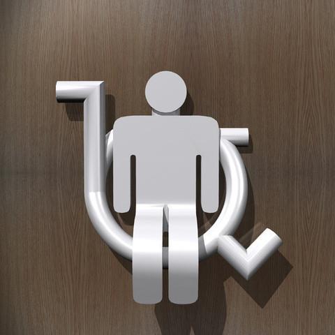 3d printer model Toilet Room Sign - Accessible, djgeenen