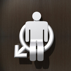 1.jpg Download STL file Toilet Room Sign - Male • 3D print object, djgeenen