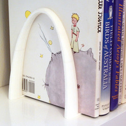 3D printing model Curved Bookend, djgeenen