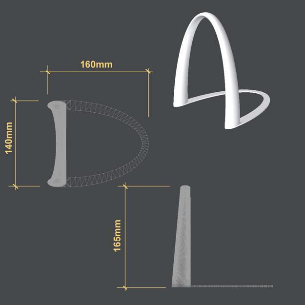 Bookend-3b.jpg Télécharger fichier STL Curved Bookend • Plan à imprimer en 3D, djgeenen