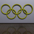 Download free STL Olympic Rings - Wall Plaque, djgeenen