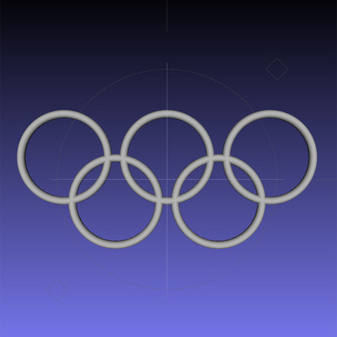 MeshLab.jpg Download free STL file Olympic Rings - Wall Plaque • 3D printing object, djgeenen