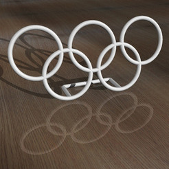 archivos stl Olympic Rings - Desk Plaque gratis, djgeenen