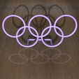 Download free STL file Olympic Rings - Desk Plaque • 3D printable design, djgeenen