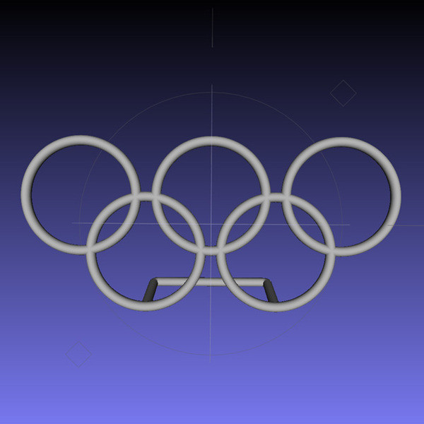MeshLab-Desk.jpg Download free STL file Olympic Rings - Desk Plaque • 3D printable design, djgeenen