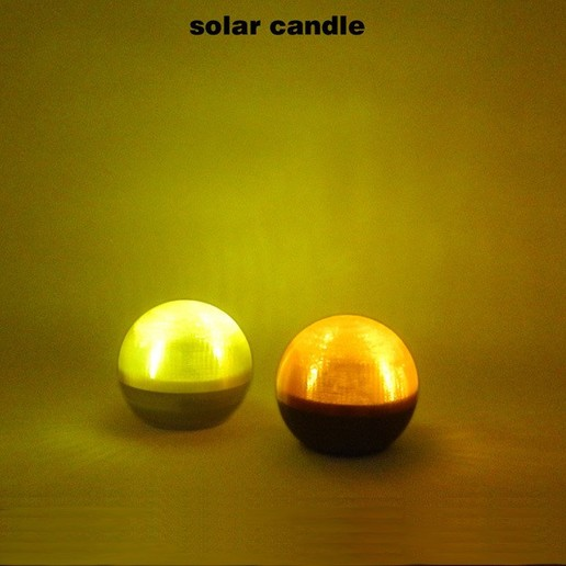 SolarCandle-3.jpg Download free STL file Solar Candle • 3D printable design, djgeenen