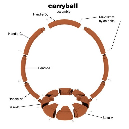 Carryball-6.jpg Download free STL file Carryball • Model to 3D print, djgeenen