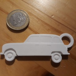 Download 3D printing models Renault key ring 4L, ayrton