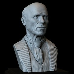 Download 3D printer designs Ed Harris 3d Printable bust, 200mm tall, sidnaique