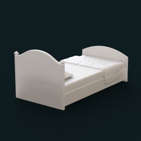 04.jpg Download STL file 1:10 Scale Model - Bed 03 • 3D print model, sidnaique
