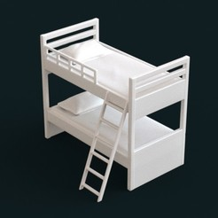 3D print files 1:10 Scale Model - BunkBed 01, sidnaique