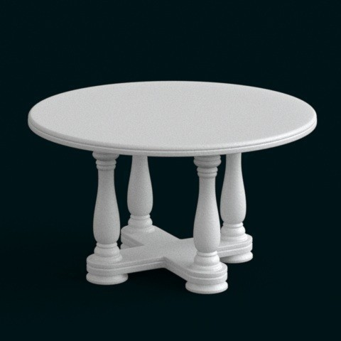 3d printer files 1:10 Scale Model - Table 02, sidnaique