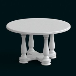 Fichier 3D 1:10 Scale Model - Table 02, sidnaique