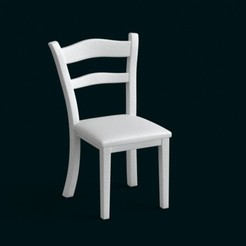 STL 1:10 Scale Model - Chair 01, sidnaique