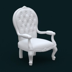 Download 3D printing designs 1:10 Scale Model - ArmChair 02, sidnaique