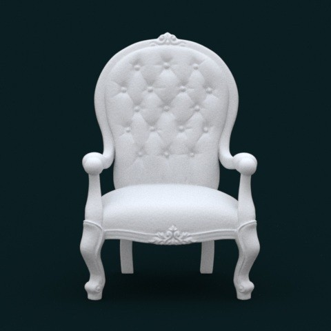 02.jpg Download STL file 1:10 Scale Model - ArmChair 02 • 3D printing design, sidnaique