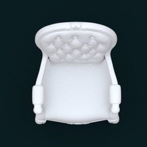 03.jpg Download STL file 1:10 Scale Model - ArmChair 02 • 3D printing design, sidnaique