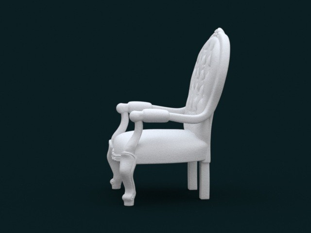 04.jpg Download STL file 1:10 Scale Model - ArmChair 02 • 3D printing design, sidnaique