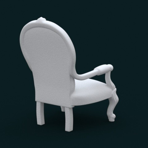 05.jpg Download STL file 1:10 Scale Model - ArmChair 02 • 3D printing design, sidnaique