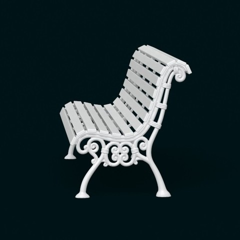 02.jpg Download STL file 1:10 Scale Model - Bench 02 • 3D printing template, sidnaique