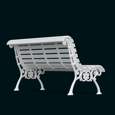 04.jpg Download STL file 1:10 Scale Model - Bench 02 • 3D printing template, sidnaique