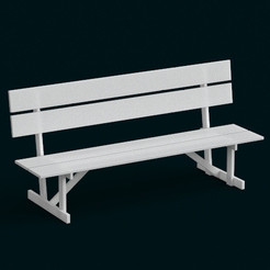 Plan 3D 1:10 Scale Model - Bench 01, sidnaique