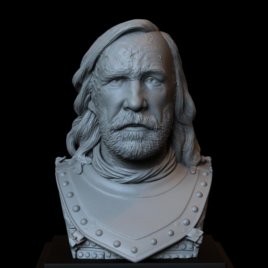 Sandor02.RGB_color.jpg Download STL file Sandor Clegane aka The Hound from Game of Thrones - 3d print model, bust, portrait • 3D printing object, sidnaique