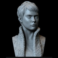 Download 3D printer model Vignette Stonemoss (Cara Delevingne) from Carnival Row - 200mm tall, sidnaique